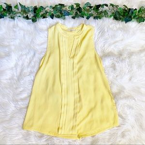41 Hawthorn Yellow Pleated Blouse